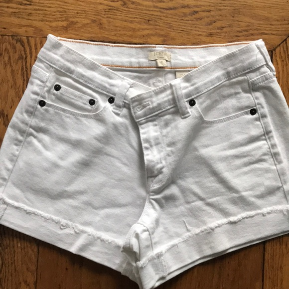 J. Crew Pants - J crew white denim shorts size 25